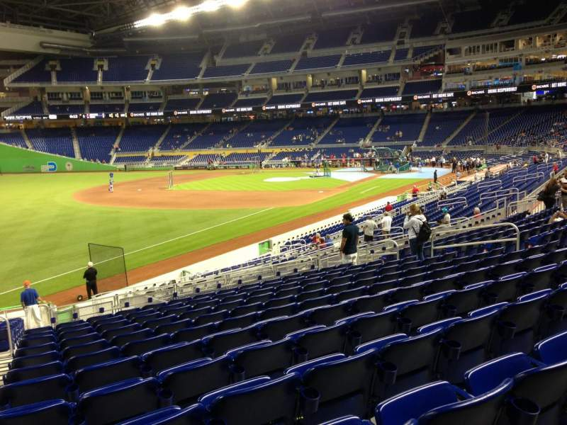 Seating view for Marlins Park Section 25 Row 12 Seat 19