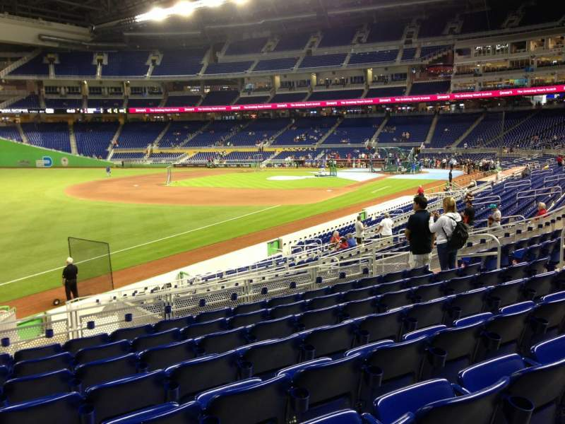 Seating view for Marlins Park Section 25 Row 8 Seat 15