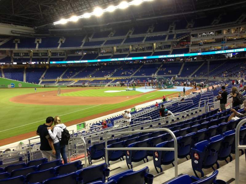 Seating view for Marlins Park Section 25 Row 8 Seat 5