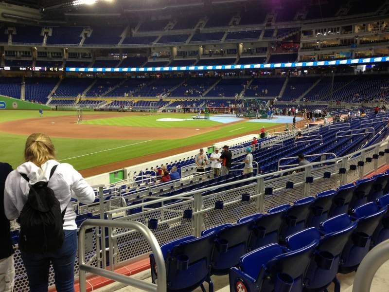 Seating view for Marlins Park Section 25 Row 4 Seat 1