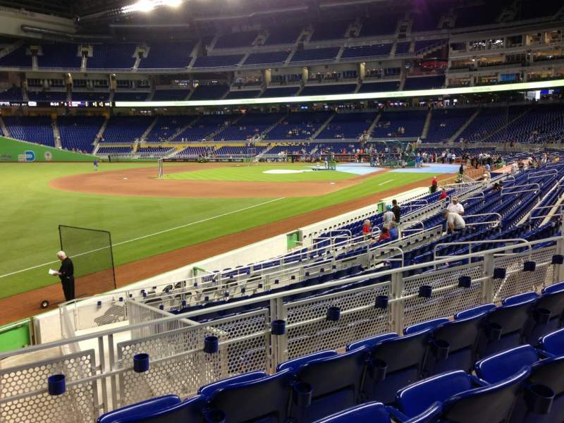 Seating view for Marlins Park Section 25 Row 4 Seat 13