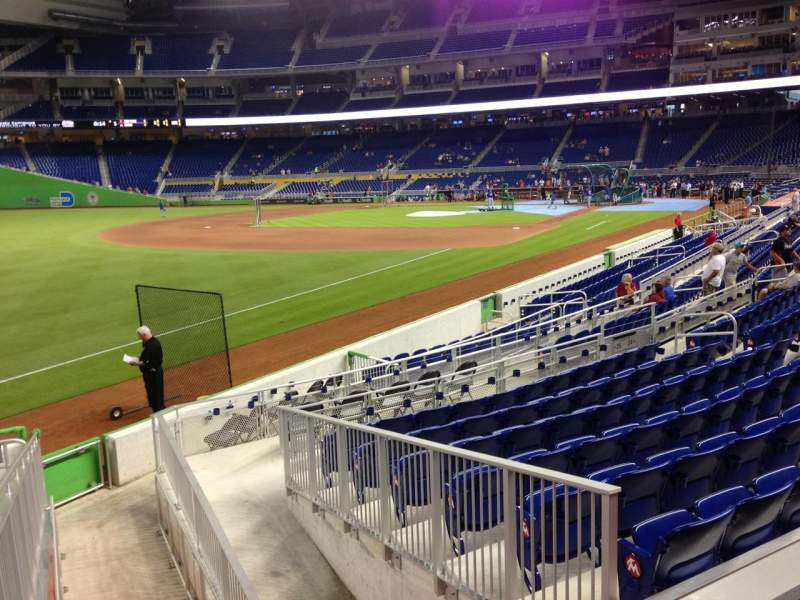 Seating view for Marlins Park Section 25 Row 1 Seat 13