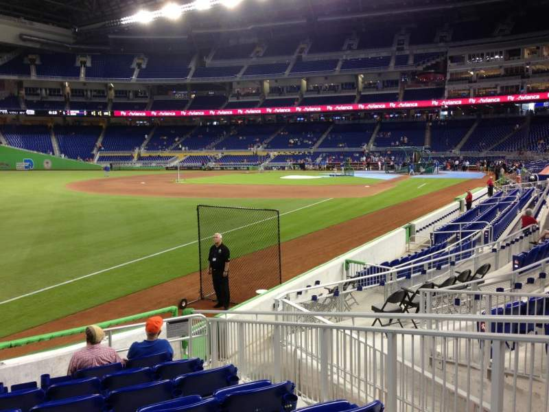 Seating view for Marlins Park Section 26 Row J Seat 4