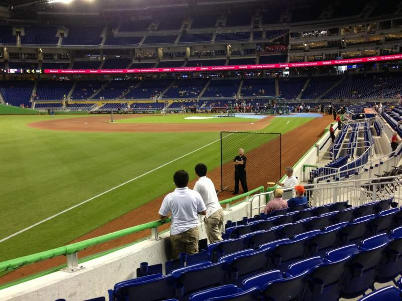 Seating view for Marlins Park Section 26 Row J Seat 14