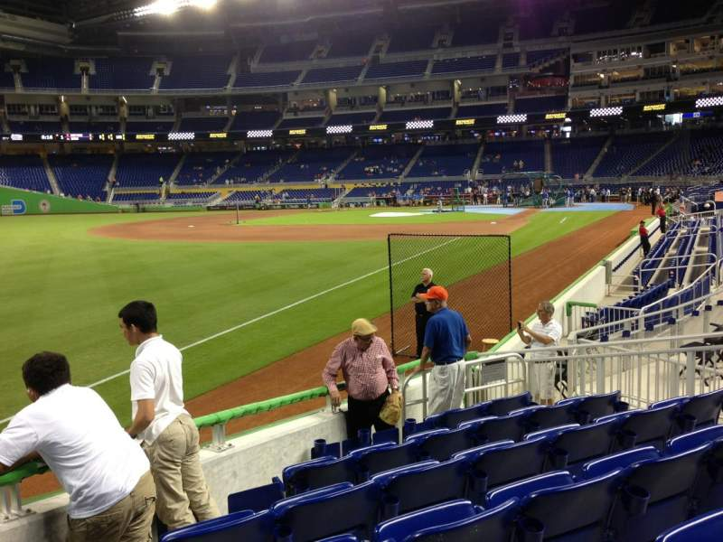 Seating view for Marlins Park Section 26 Row I Seat 10