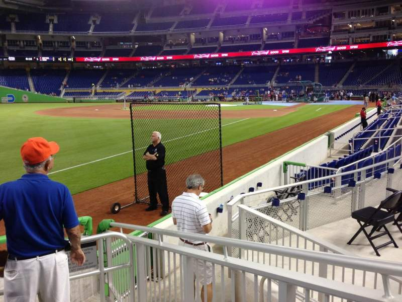 Seating view for Marlins Park Section 26 Row E Seat 1