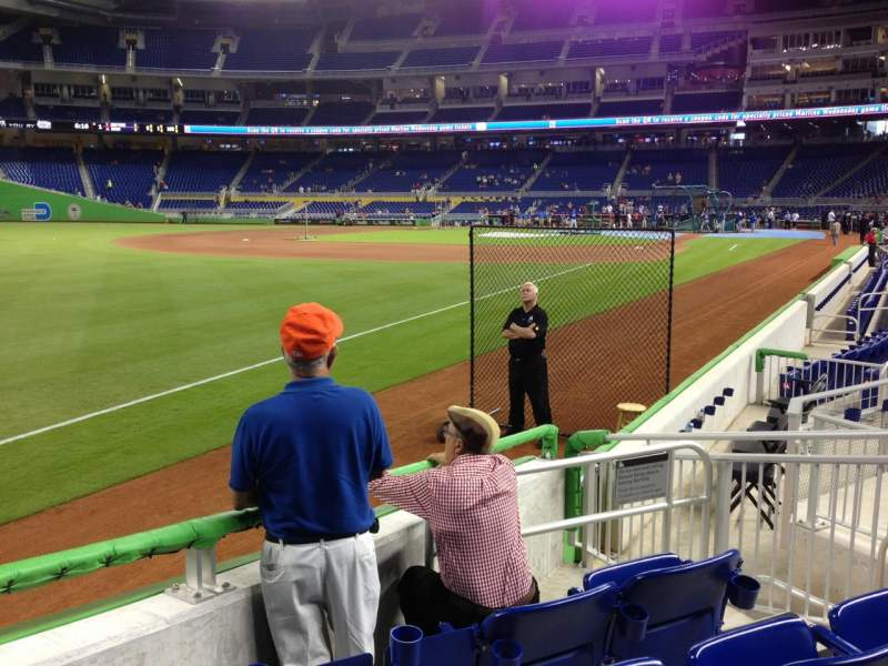 Seating view for Marlins Park Section 26 Row E Seat 5