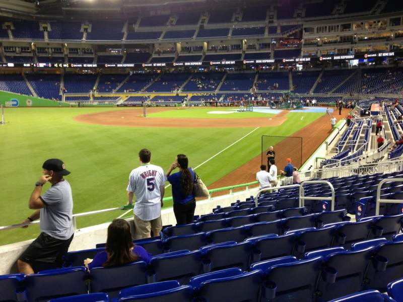 Seating view for Marlins Park Section 27 Row 5 Seat 8