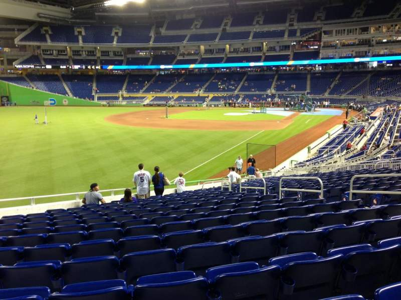 Seating view for Marlins Park Section 27 Row 13 Seat 9