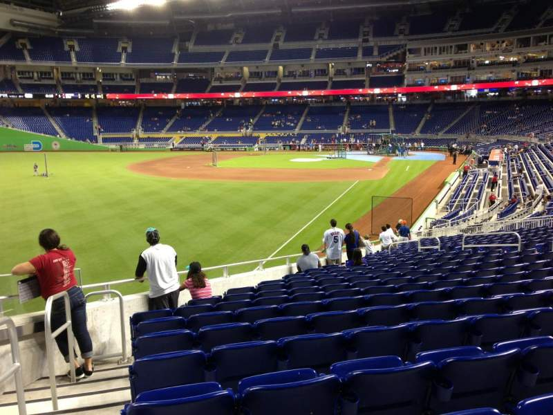 Seating view for Marlins Park Section 27 Row 13 Seat 19