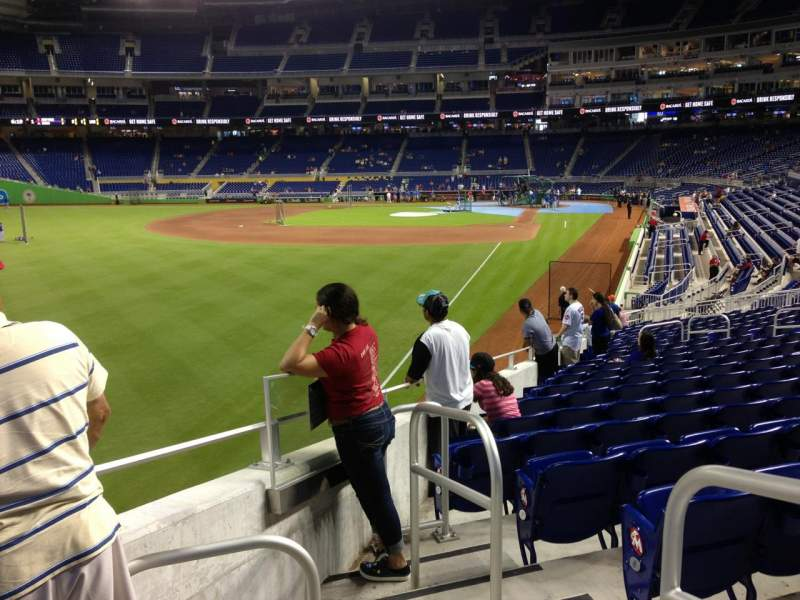 Seating view for Marlins Park Section 28 Row 11 Seat 1