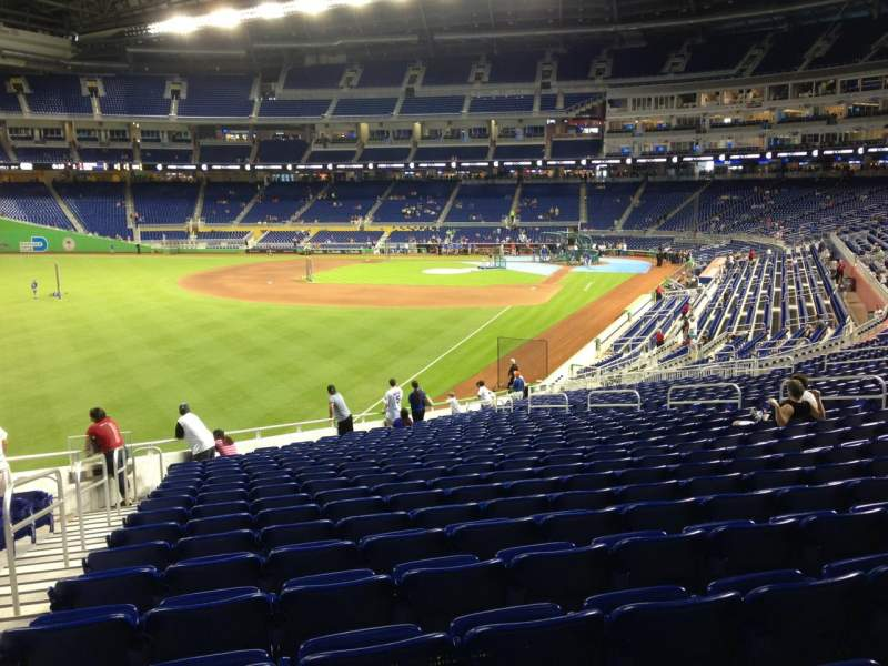 Seating view for Marlins Park Section 27 Row 21 Seat 21