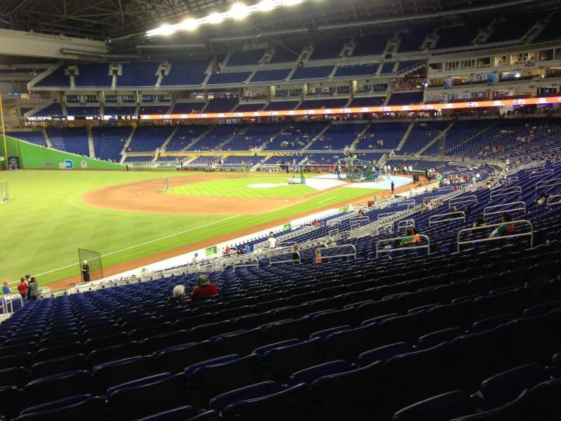 Seating view for Marlins Park Section 25 Row 25 Seat 22