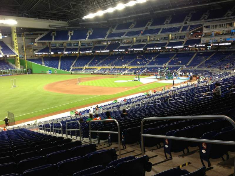 Seating view for Marlins Park Section 25 Row 25 Seat 4