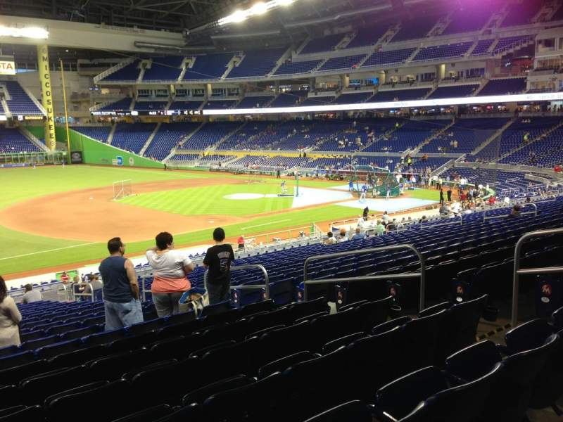 Seating view for Marlins Park Section 23 Row 21 Seat 8