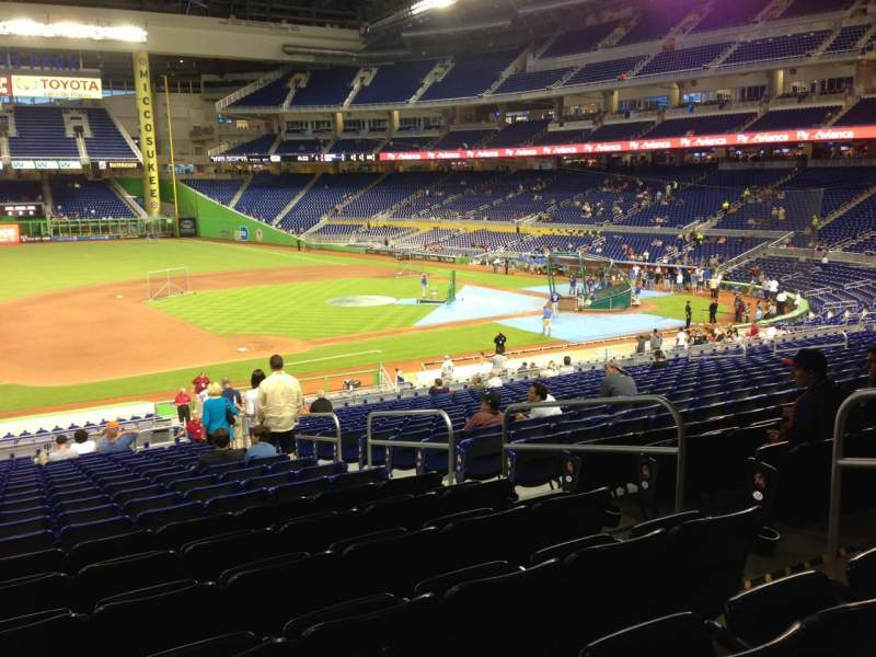 Seating view for Marlins Park Section 22 Row 21 Seat 6