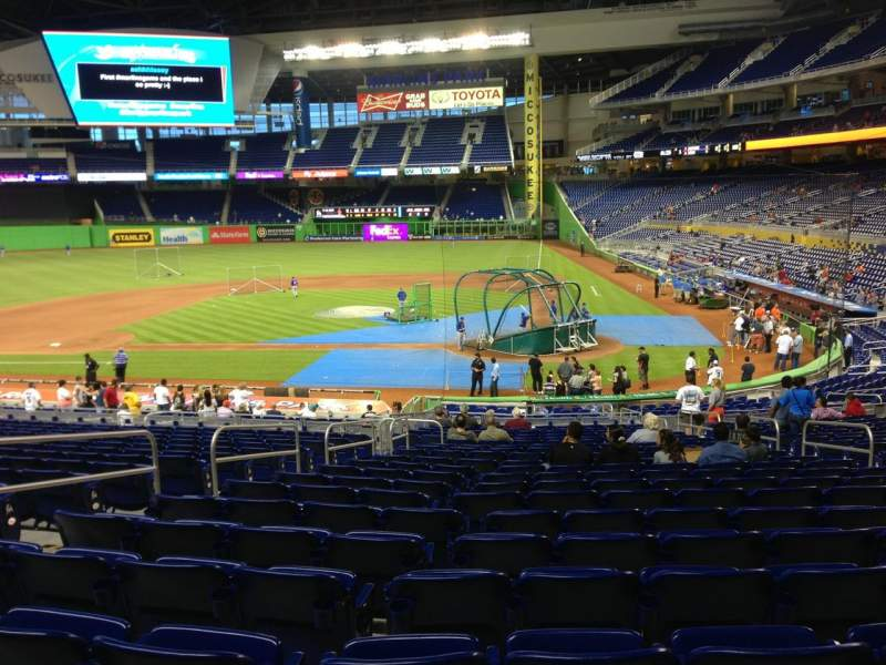 Seating view for Marlins Park Section 18 Row 16 Seat 9