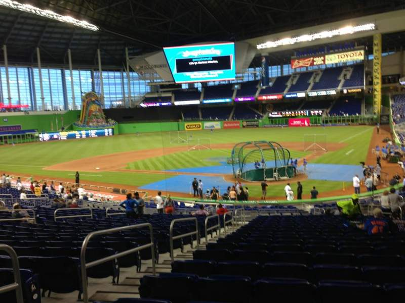 Seating view for Marlins Park Section 16 Row 15 Seat 14