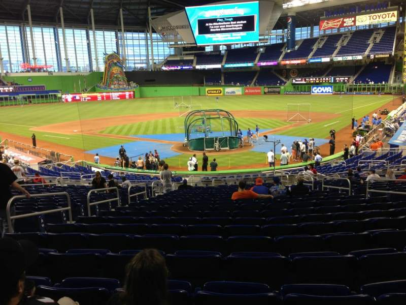 Seating view for Marlins Park Section 15 Row 14 Seat 10