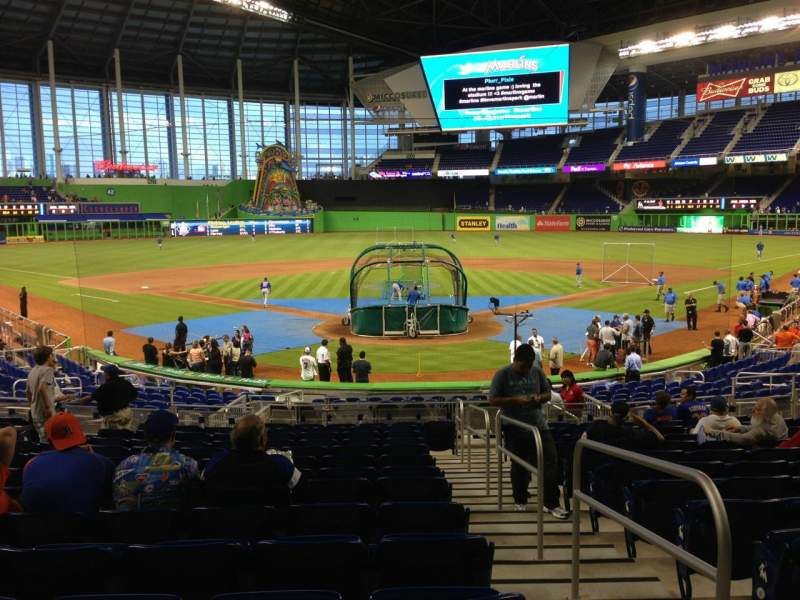 Seating view for Marlins Park Section 15 Row 8 Seat 1