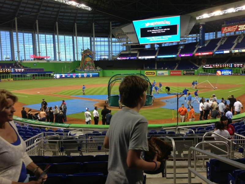 Seating view for Marlins Park Section 15 Row 1 Seat 1