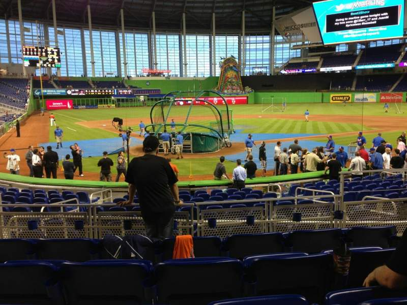 Seating view for Marlins Park Section 13 Row E Seat 5