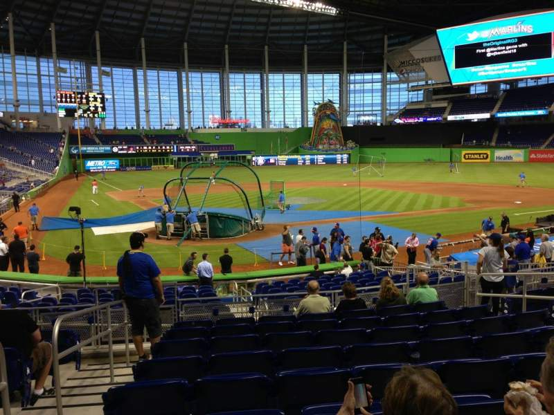 Seating view for Marlins Park Section 12 Row 4 Seat 9