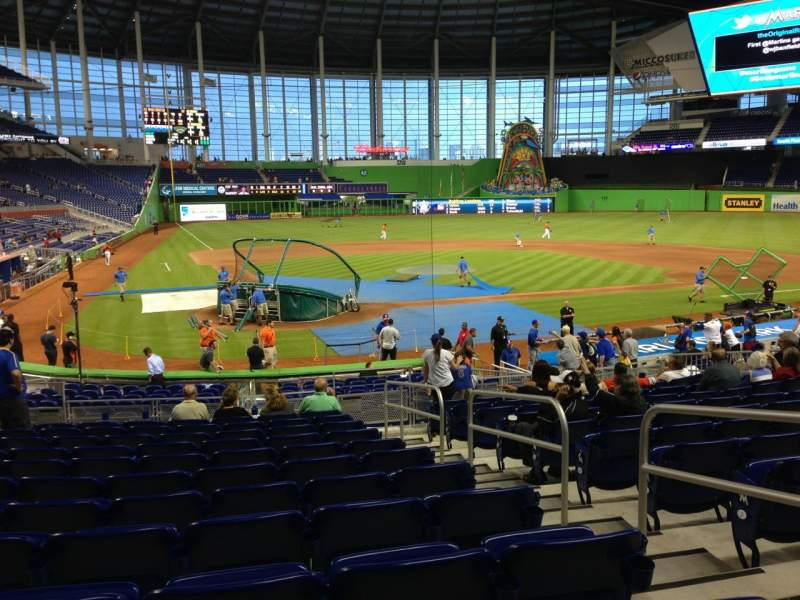 Seating view for Marlins Park Section 12 Row 7 Seat 3