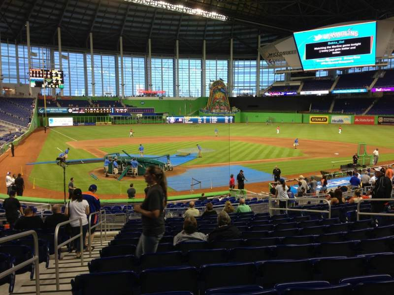 Seating view for Marlins Park Section 12 Row 8 Seat 11