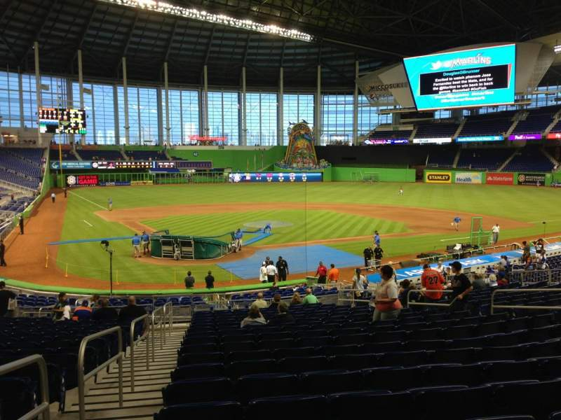 Seating view for Marlins Park Section 12 Row 13 Seat 14