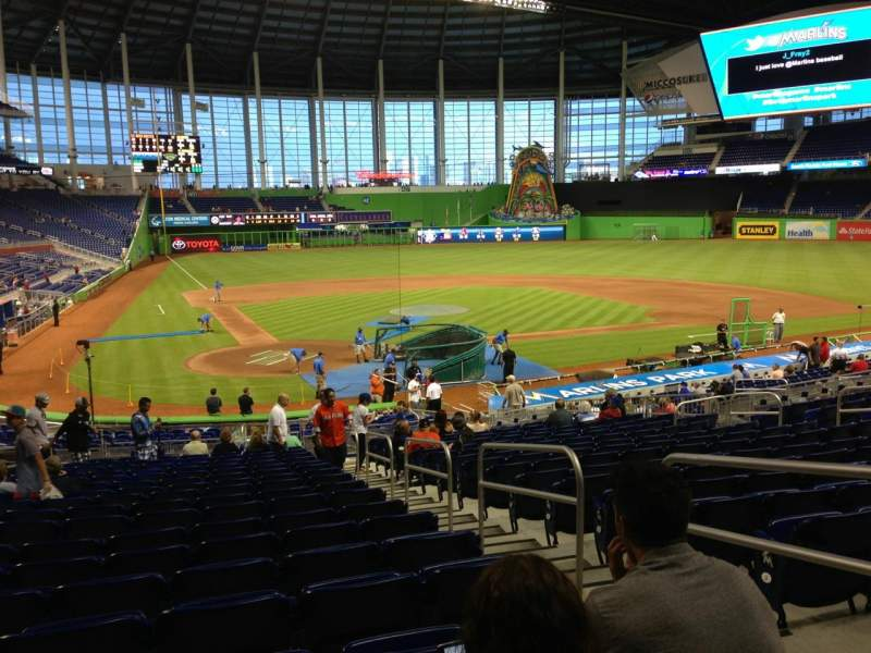 Seating view for Marlins Park Section 12 Row 13 Seat 3