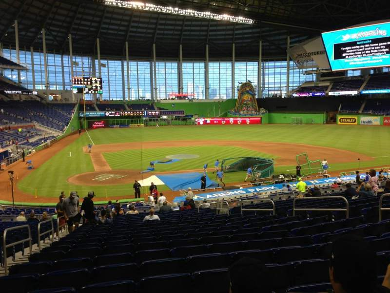 Seating view for Marlins Park Section 11 Row 16 Seat 12