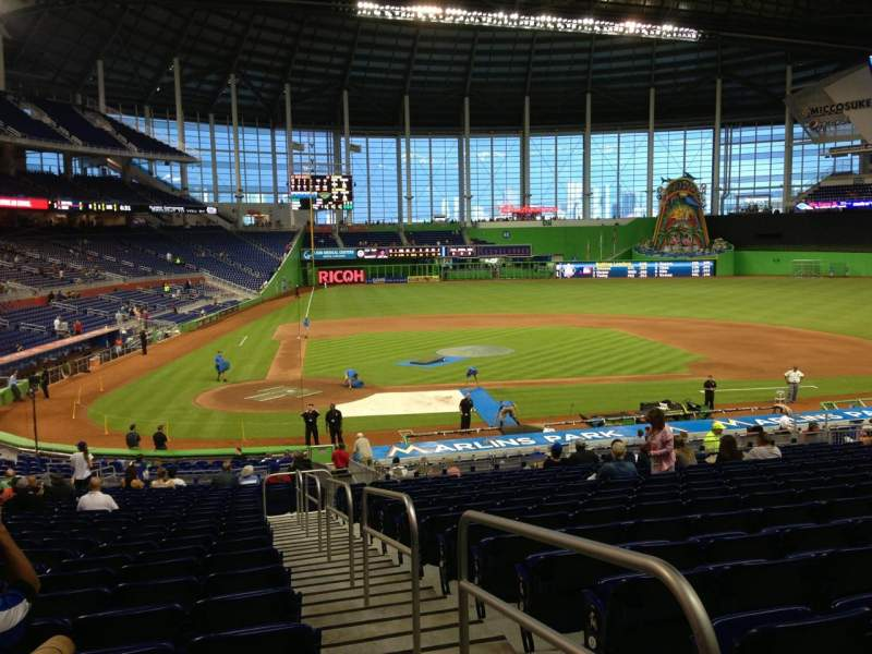 Seating view for Marlins Park Section 11 Row 16 Seat 1