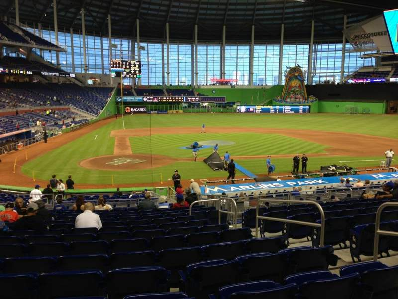 Seating view for Marlins Park Section 11 Row 10 Seat 5