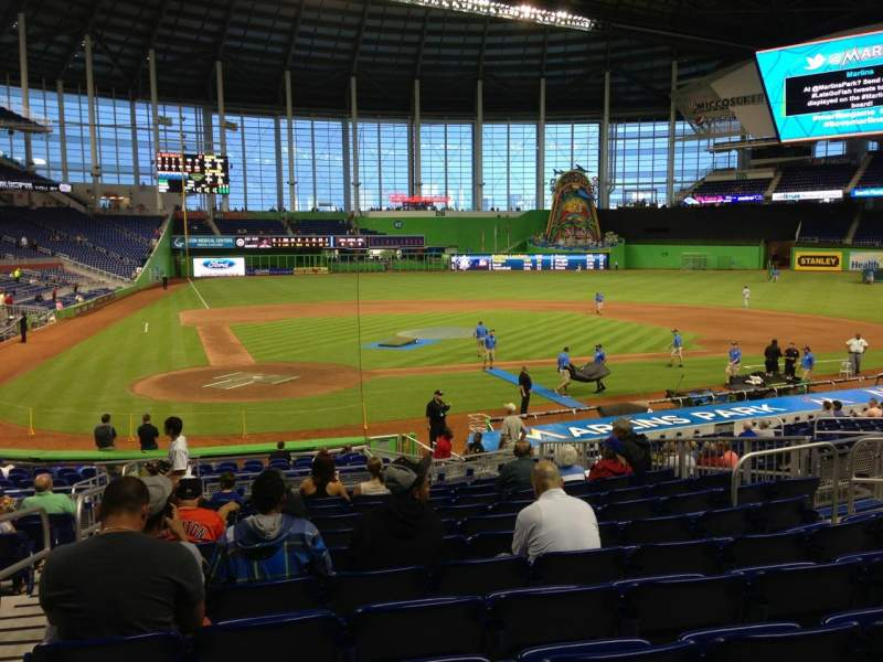 Seating view for Marlins Park Section 11 Row 7 Seat 10
