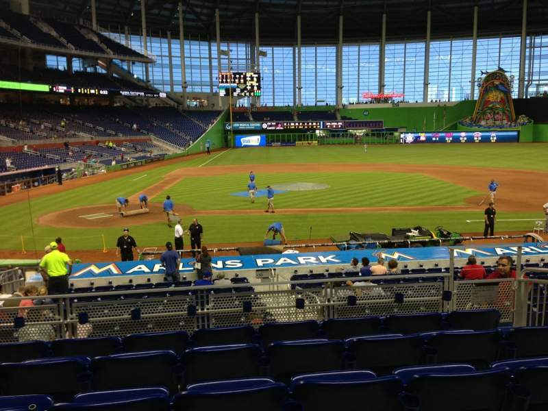 Seating view for Marlins Park Section 10 Row 6 Seat 7