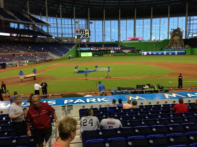 Seating view for Marlins Park Section 10 Row 1 Seat 1