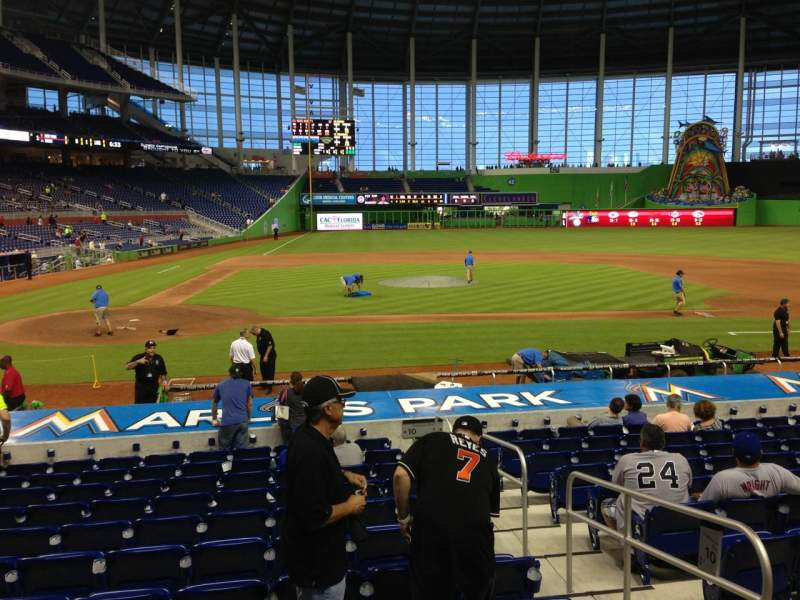 Seating view for Marlins Park Section 10 Row 1 Seat 6
