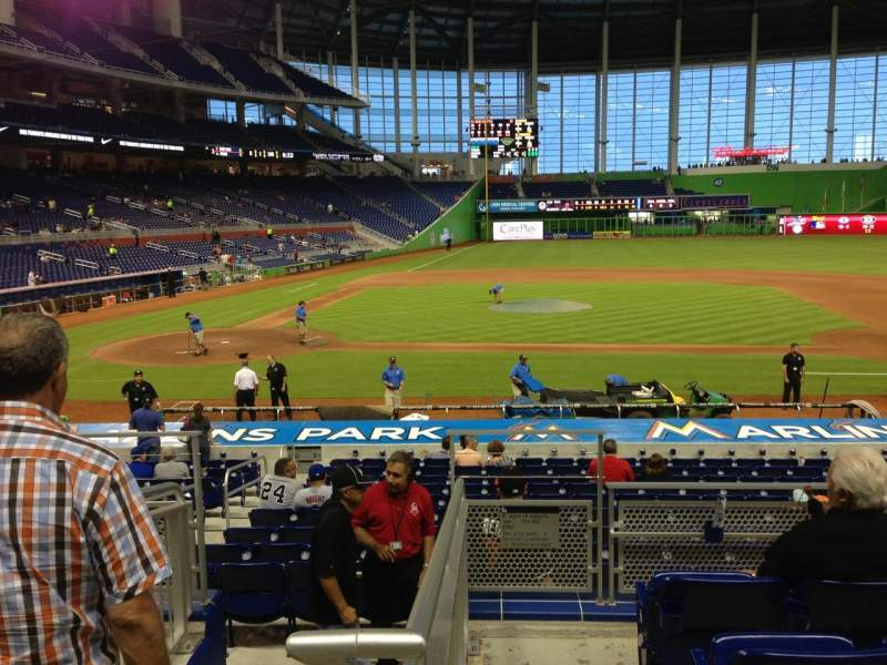 Seating view for Marlins Park Section 9 Row 5 Seat 20