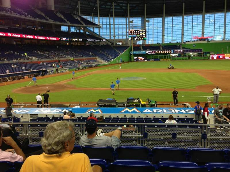 Seating view for Marlins Park Section 9 Row 5 Seat 12