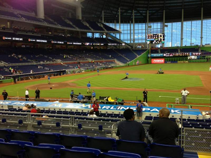 Seating view for Marlins Park Section 9 Row 5 Seat 1