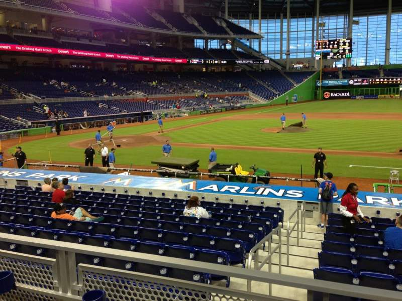 Seating view for Marlins Park Section 9 Row 2 Seat 2