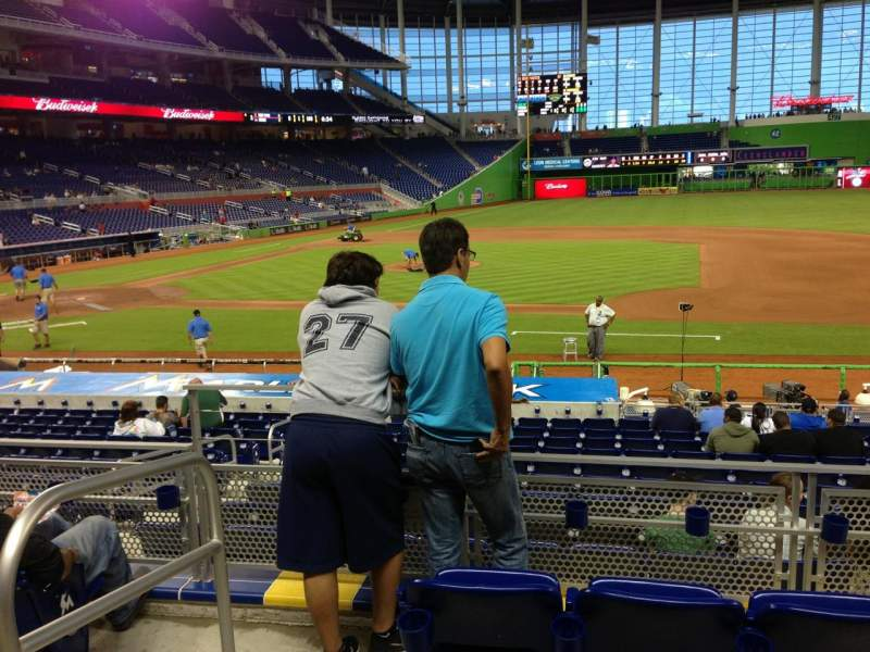 Seating view for Marlins Park Section 8 Row 4 Seat 21