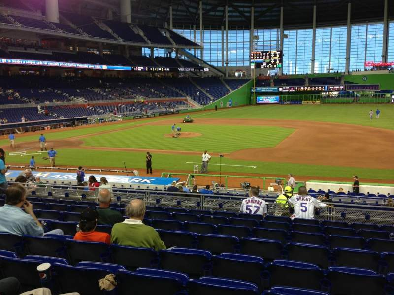 Seating view for Marlins Park Section 8 Row 9 Seat 9