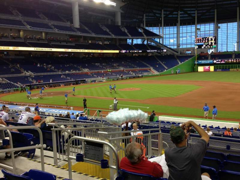 Seating view for Marlins Park Section 7 Row 7 Seat 20