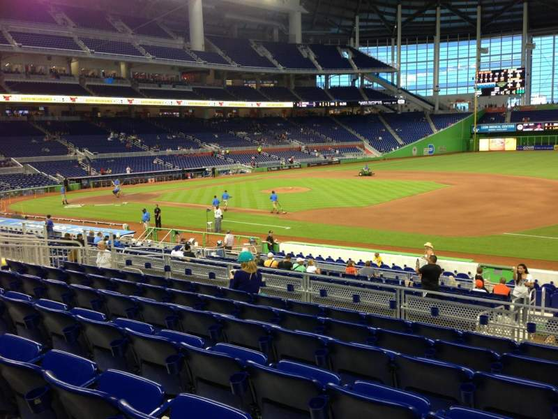 Seating view for Marlins Park Section 7 Row 7 Seat 7
