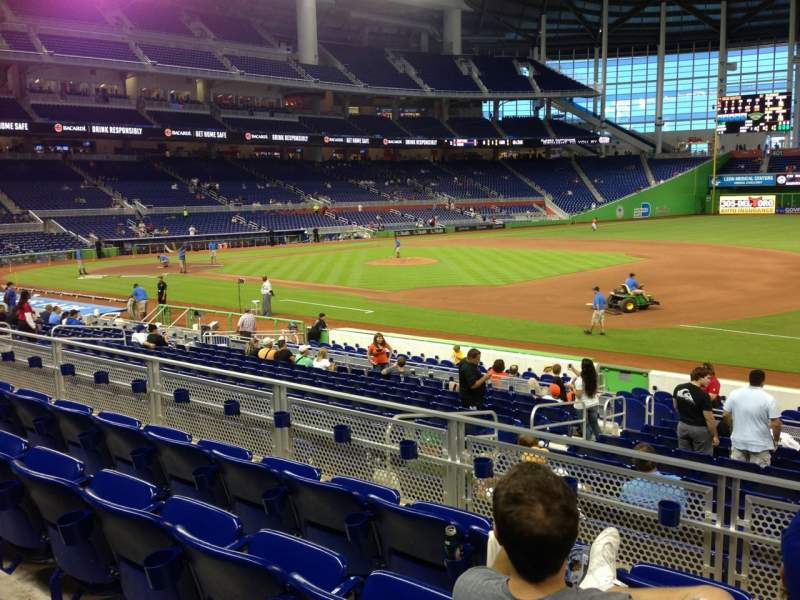 Seating view for Marlins Park Section 7 Row 4 Seat 1