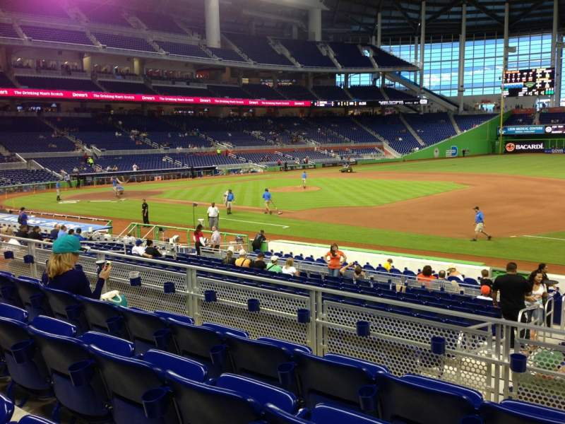 Seating view for Marlins Park Section 7 Row 4 Seat 7