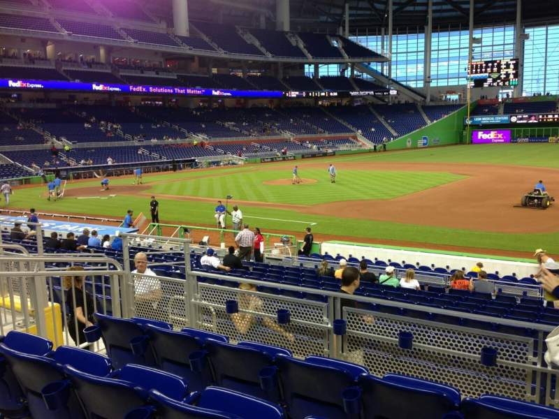 Seating view for Marlins Park Section 7 Row 4 Seat 16