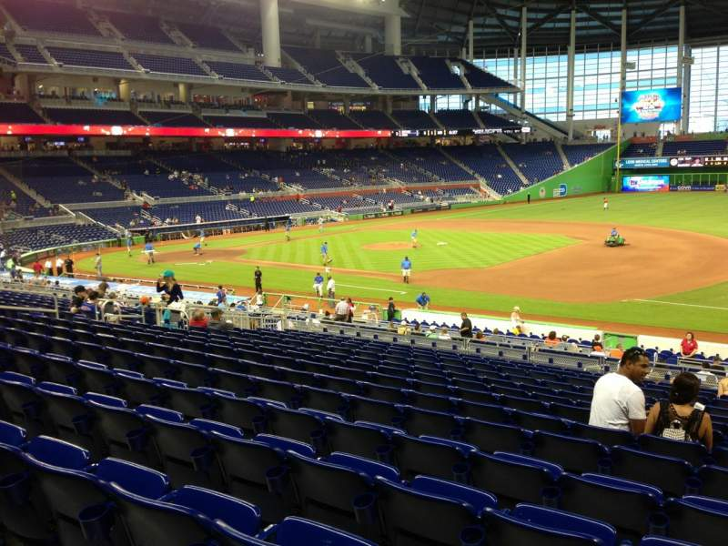 Seating view for Marlins Park Section 7 Row 14 Seat 2